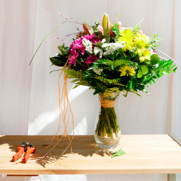 Ram Rafia flor natural